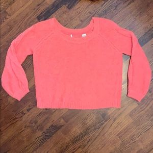 Bright pink Free People Sweater (Sm)